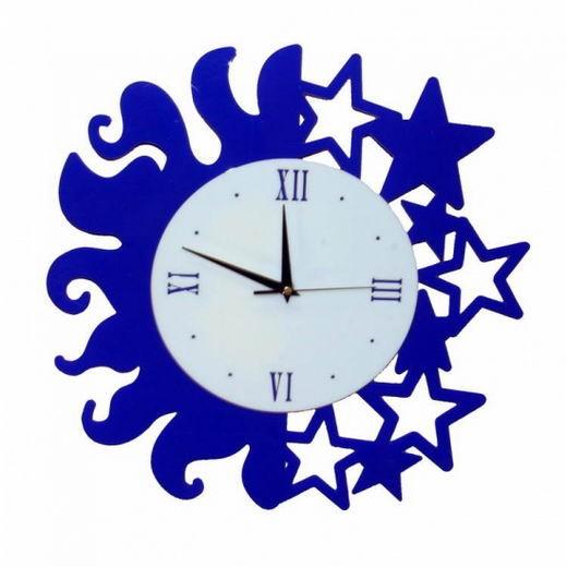 Необычные часы Day and Night (синие)