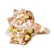 Букет из конфет Кремовый десерт