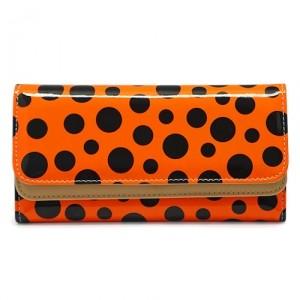 Кошелек Peas (оранжево-черный)