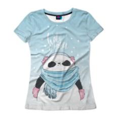 Женская футболка 3D Hate winter