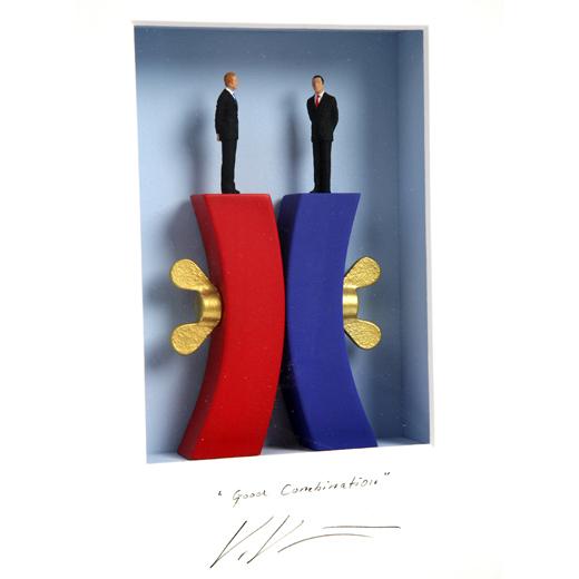 3D-картина «Противоположности сходятся»