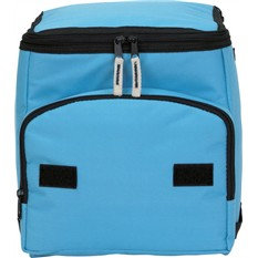 Голубая сумка холодильник с отделением спереди