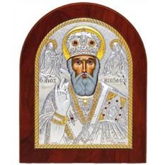 Николай Чудотворец (Угодник). Икона в серебряном окладе.