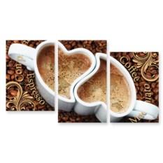 Модульная картина Географическое кофе