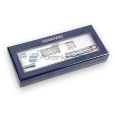 Набор ручка и флеш-карта на 4 ГБ Северное сияние Swarovski