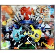 Картина с кристаллами Сваровски Гитары