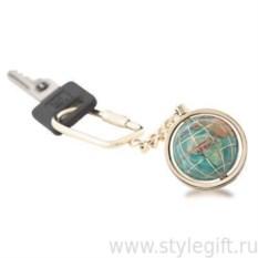 Брелок для ключей золотистого цвета с глобусом
