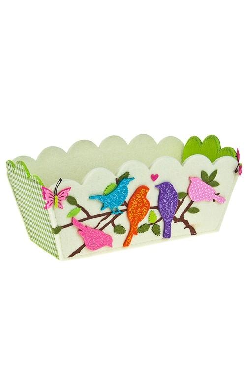 Кашпо декоративное Влюбленные птицы