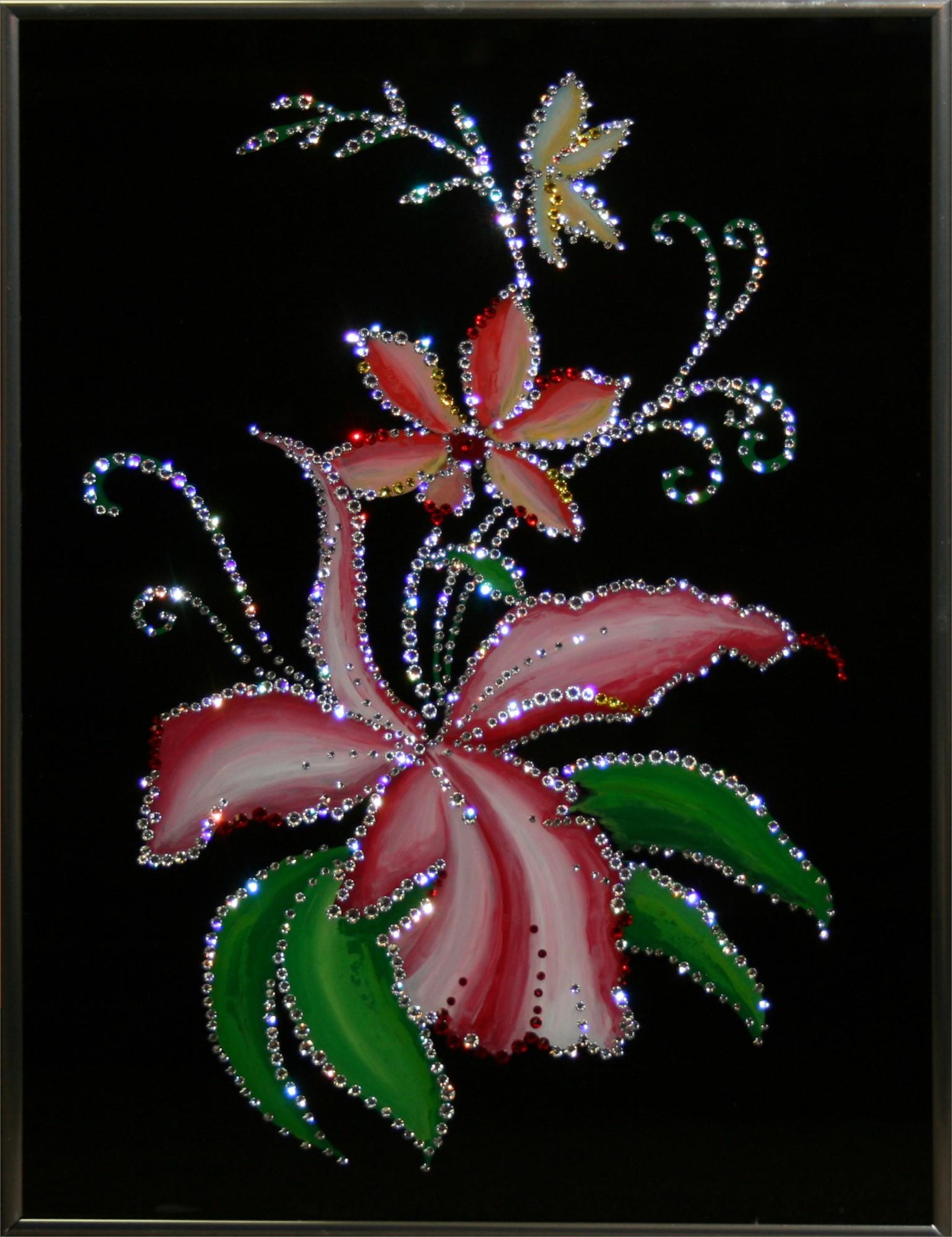 Картина Сваровски Орхидеи