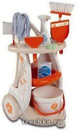 Игровой набор для уборки 9 предметов, Smoby
