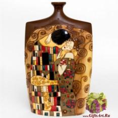 Фарфоровая ваза Климт. Поцелуй 35 см