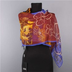 Шейный женский шарфик с цветочками Coveri Collection