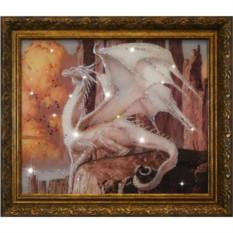 Картина с кристаллами Swarovski Белый Дракон
