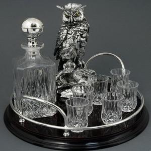 Набор для водки «Мудрый филин»