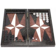 Черно-коричневые нарды Звезда