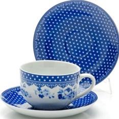 Синий чайный набор из 12 предметов Lorain