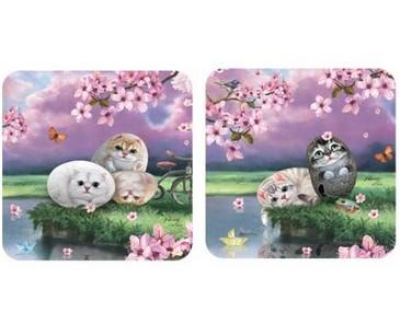 Пробковые подставки «Цветы вишни»