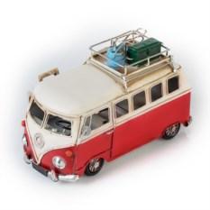 Ретро-модель Красно-белый автобус с фоторамкой