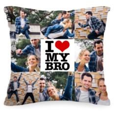 Подушка с вашим фото I love my bro