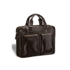 Деловая коричневая сумка для документов Brialdi Parma