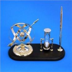 Настольный набор: сфера, песочные часы, ручка