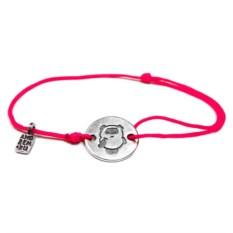 Веревочный браслет Винни Пух (серебро, 925 проба)