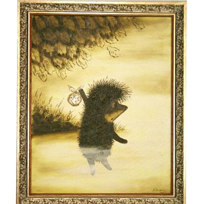 Картина «Ёжик спускается в туман»