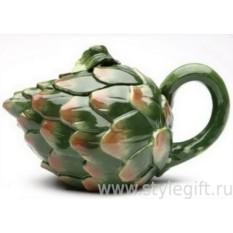 Фарфоровый чайник Чертополох