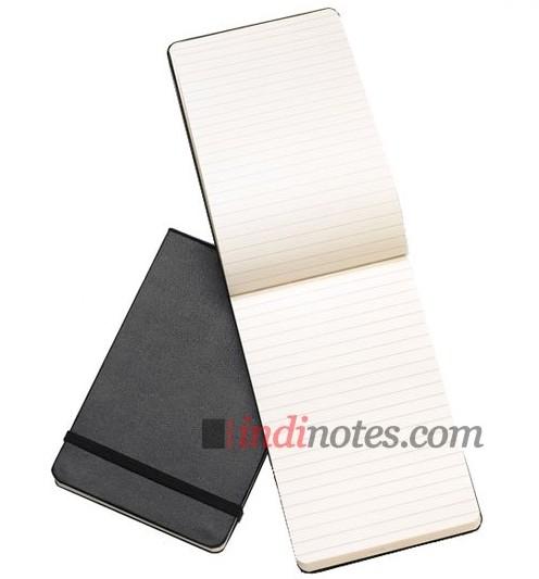 Черная записная книжка в линейку Reporter, Pocket