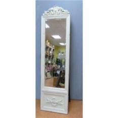 Белое напольное зеркало
