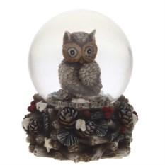 Декоративная фигурка в стеклянном шаре Совушка