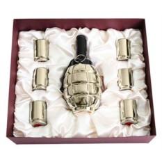 Штоф Лимонка со стопками в подарочной коробке