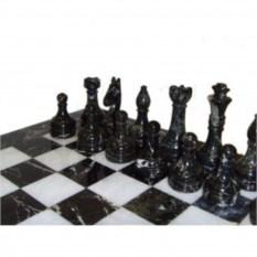 Шахматы из ценных сортов натурального камня Мрамор