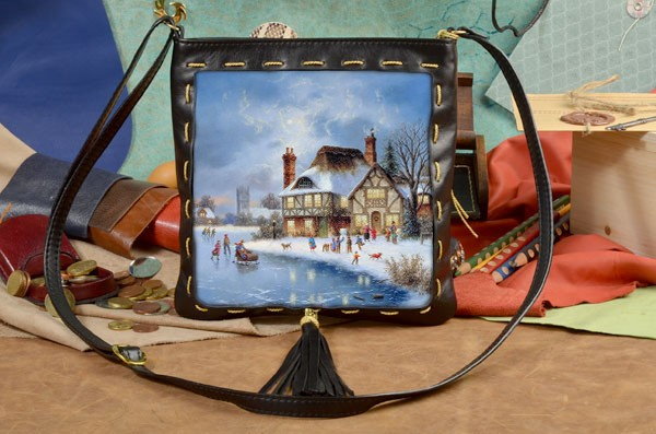 Женская сумка-планшет Зимние забавы