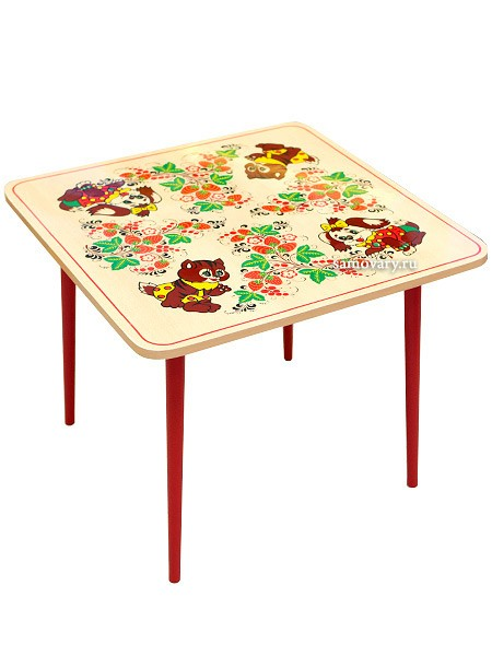 Детский столик Осень с Хохломской росписью