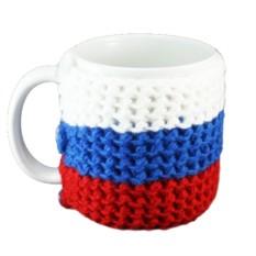 Вязанная кружка Россия