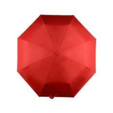 Складной автоматический зонт, красный