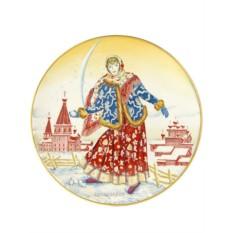 Декоративная тарелка Девушка со снежком