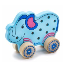 Шнуровка-каталка Слоненок