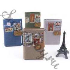 Синий держатель для карточек Voyage Stamps Америка