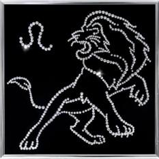 Картина с кристаллами Сваровски Лев