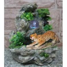 Фонтан с цветной подсветкой Леопард на охоте