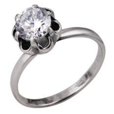 Кольцо из серебра с крупным фианитом