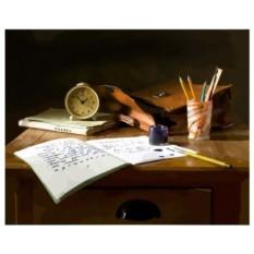 Картина-раскраска по номерам на холсте Уроки