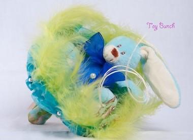 Букет из мягких игрушек Зайка-одиночка, синий