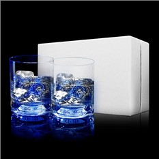 Набор из 2 бокалов для виски, сияющих от прикосновения руки