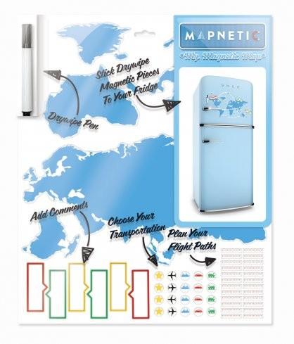 Набор магнитов-пазлов Mapnetic
