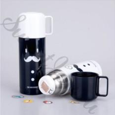 Черный термос с чашкой Gentleman