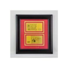Картина с банкнотой 100 рублей с сусальным золотом