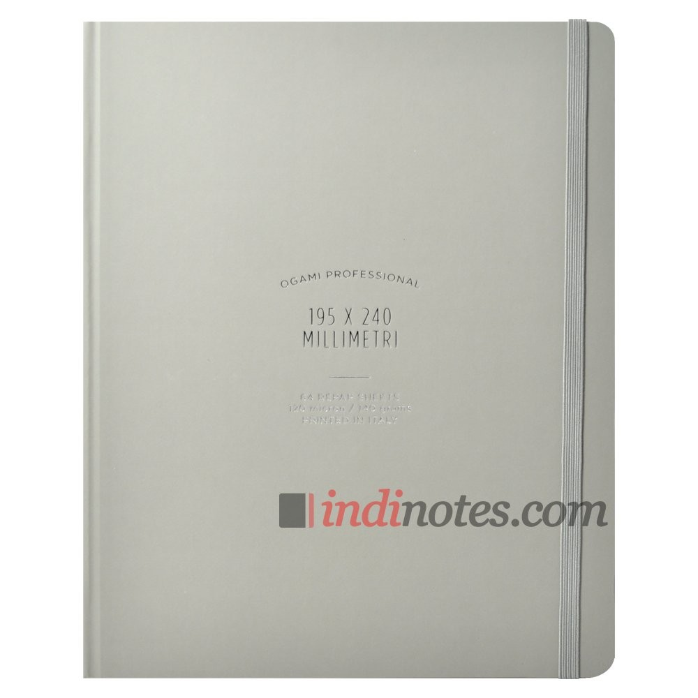 Записная книжка Ogami Professional Large Grey Hardcover